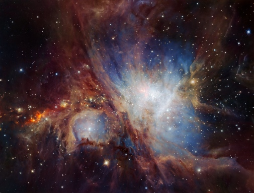 A deep infrared view of the Orion Nebula from HAWK-I. Credit:  ESO/H. Drass et al.